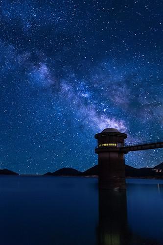 lake landscape star