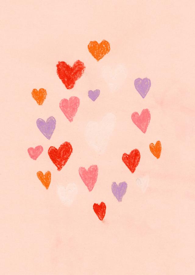 hearts peachy