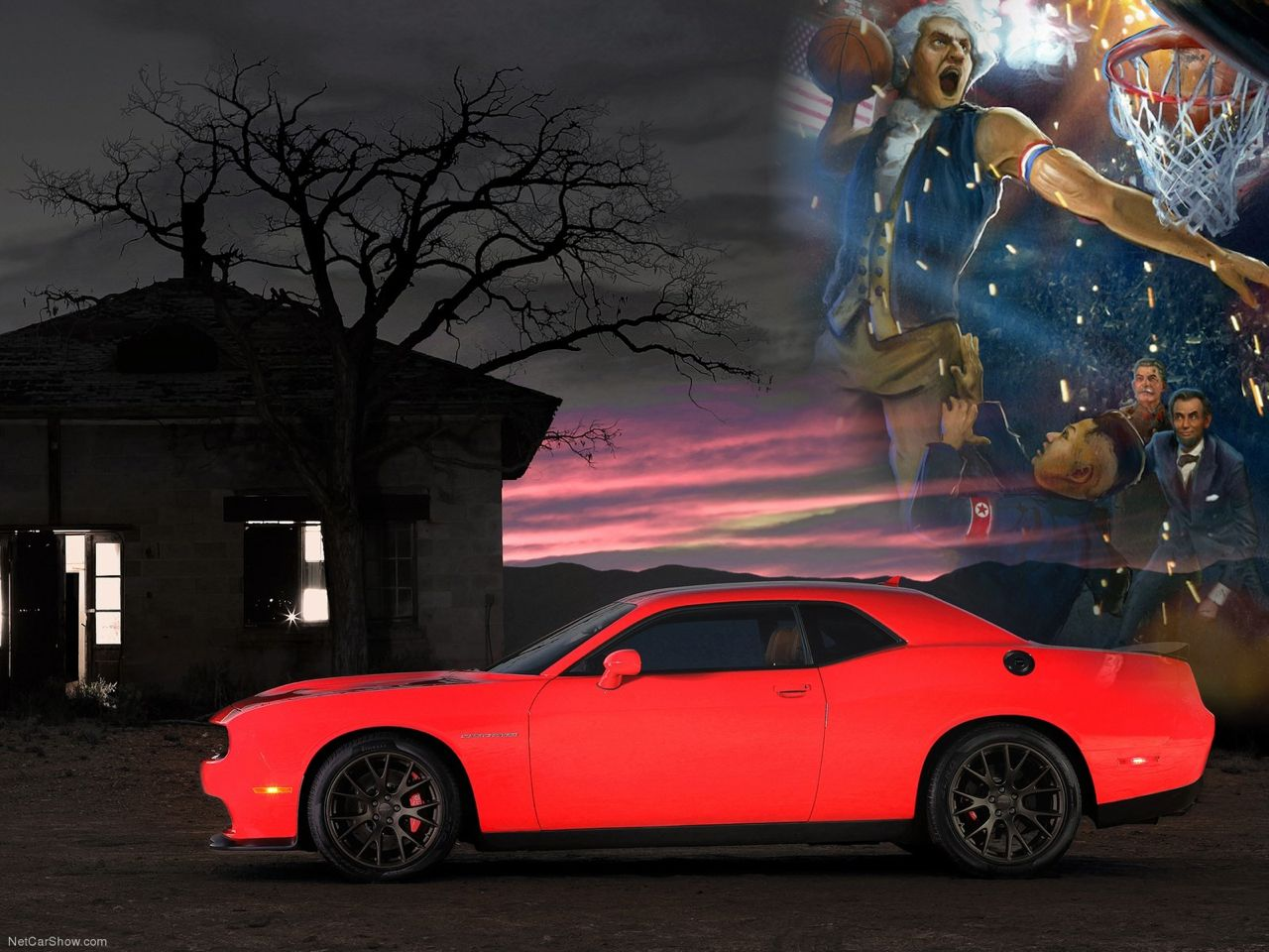 Dodge Challenger SRT Hellcat with George Washington