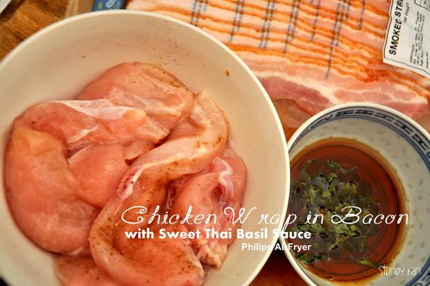 Philips Airfryer Chicken wrap Bacon 1