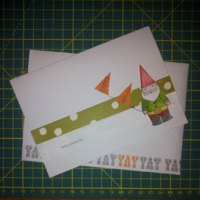 Just made my dad's birthday card for next week! #gnome #studiocalico #card #happybirthday