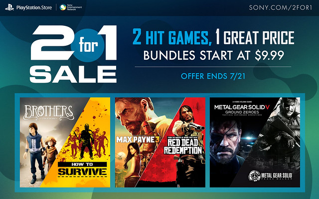 PlayStation Store 2 for 1 Sale
