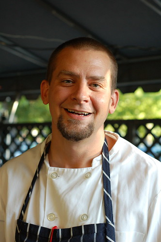 Chef and co-owner Nathan Snow at The Huguenot restaurant in New Paltz by Eve Fox, The Garden of Eating copyright 2014