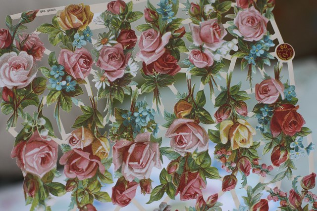 Roses decoupage