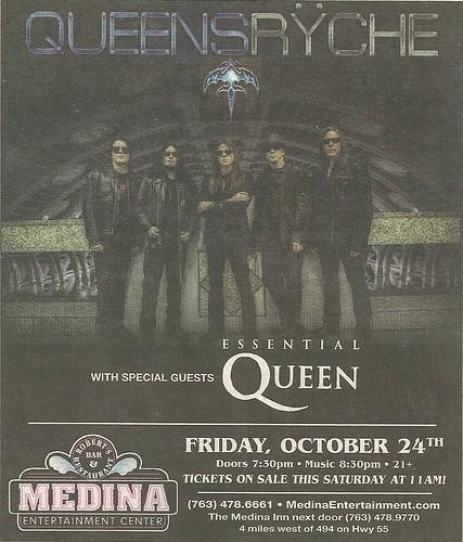 10/24/14 Queensryche/ Essential Queen @ Medina Entertainment Center, Medina, MN