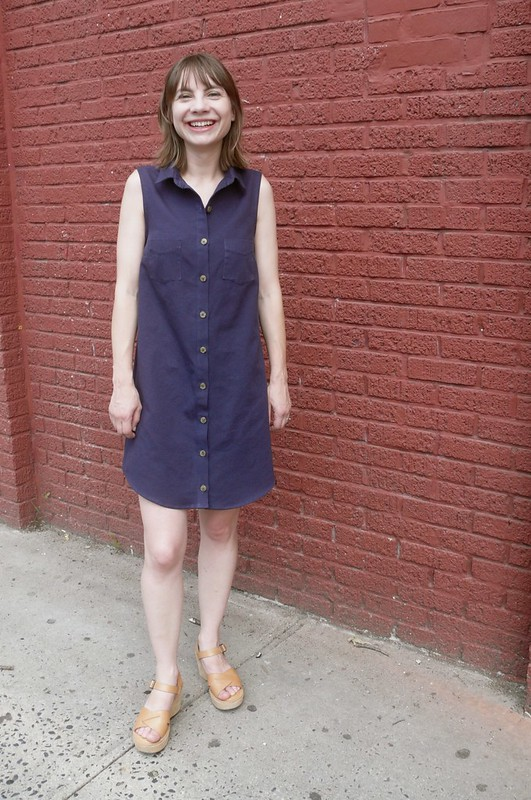Grainline Studio Alder Shirtdress | Ginger Makes