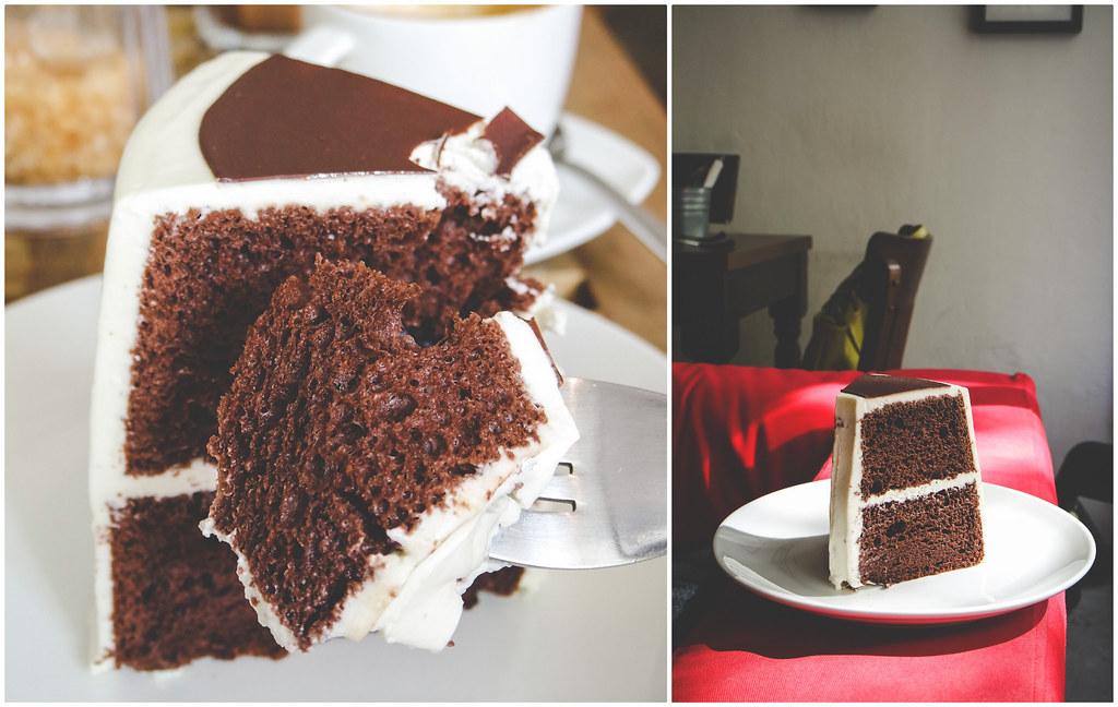 L'Etoile Cafe's chocolate chiffon cake