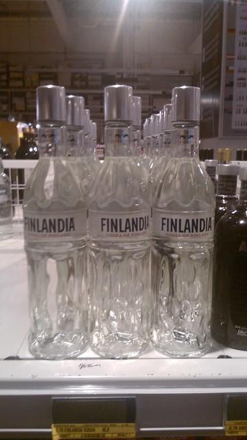 Botellas de Finlandia