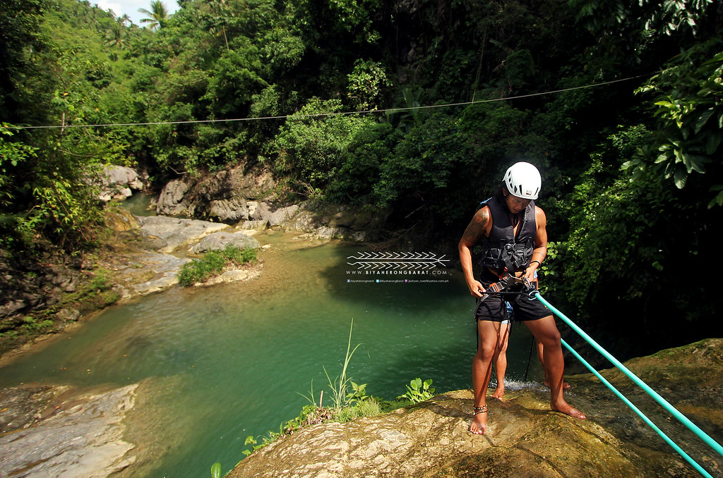 Rappelling waterfalls danasan eco-adventure park danao city cebu
