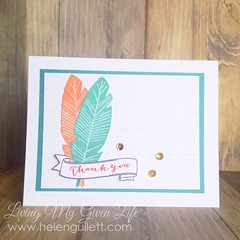 Thank You - Feather Card