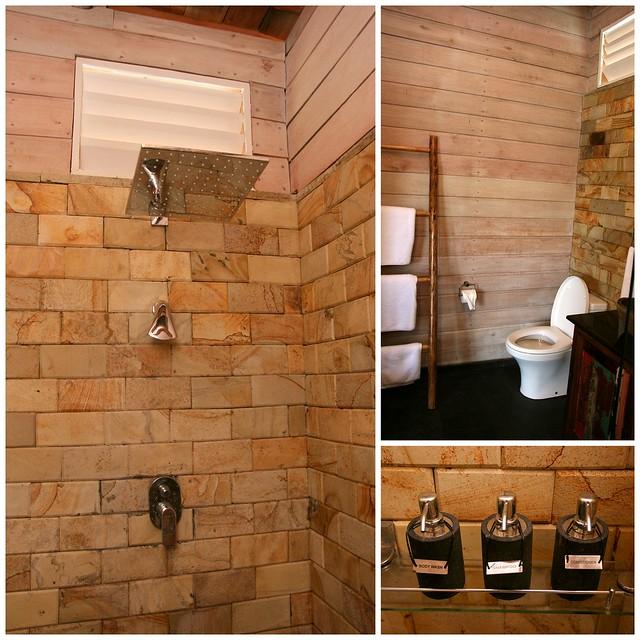 Bathroom in Telunas Private Island sea villas