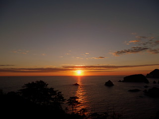 Okuirozaki Coast Sunset