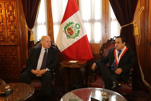 Secretario General de la OEA se reunió con el Presidente del Congreso de Perú