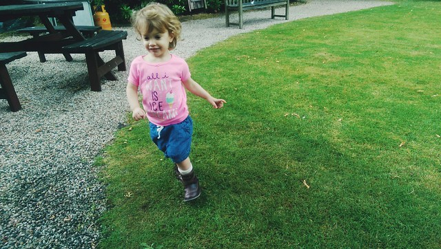 running in the garden