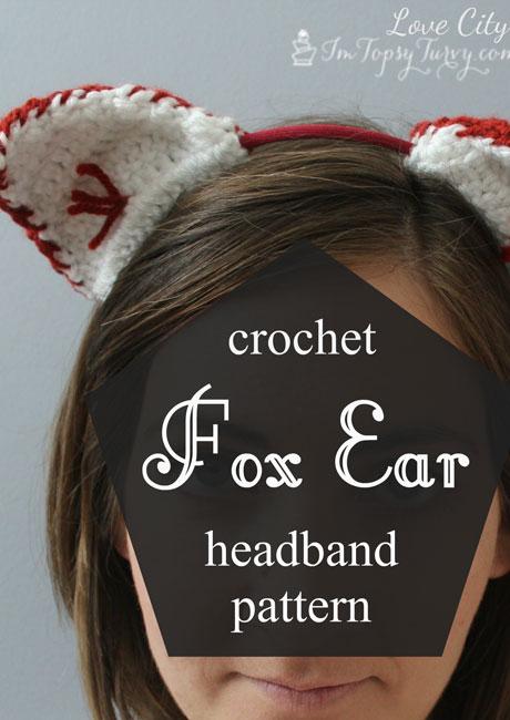 Free Crochet Pattern For Animal Ears : crochet fox ear headband pattern