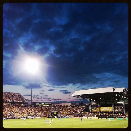 Beautiful night at Columbus Crew Stadium with @genmae5...