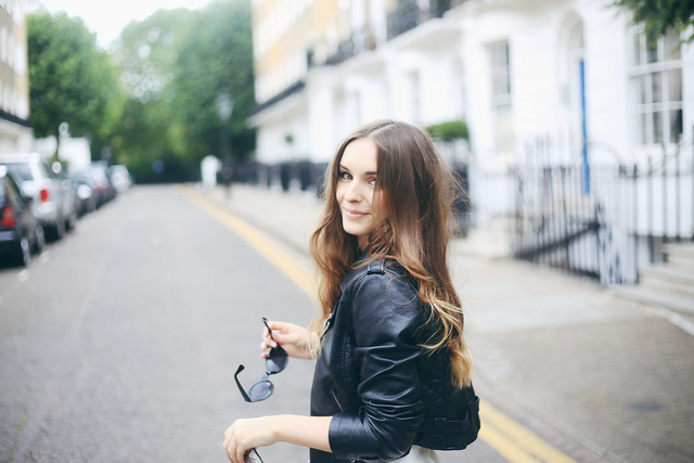Floral Summer Look London Leather Jacket What Olivia Did