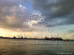 Psalm 91:1 He who takes refuge in the shelter of the Most Highwill be safe in the shadow of the Almighty.