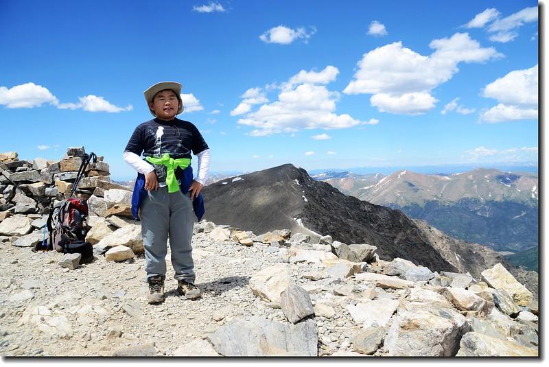 Jacob on the summit of Grays Peak's summit 1