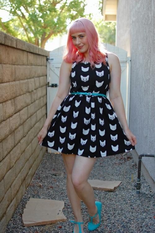 h&m cat dress