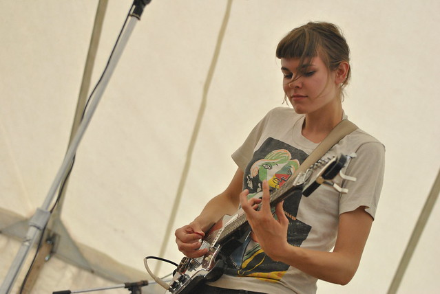 Steph Yates of Esther Grey @ the Lake Stage for Hillside Festival - July 26, 2014. Photo: Tom Beedham