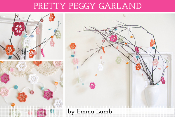 Pretty Peggy Garland, crochet pattern by Emma Lamb / © emma lamb 2013