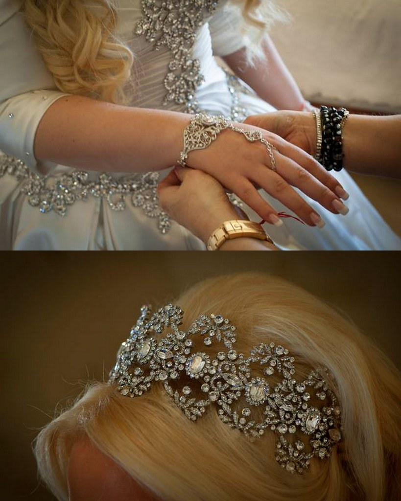 Gabrielle + Serge | bridal headpiece veil and jewelry - Bridal Styles Boutique