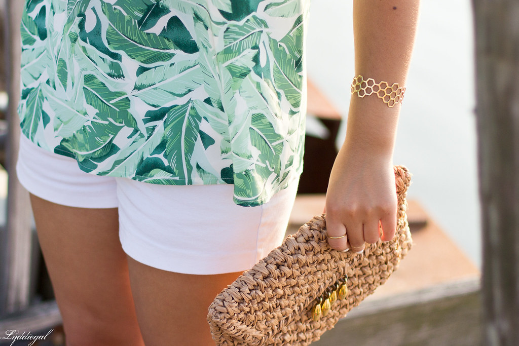 Palm print top, white shorts, panama hat-8.jpg
