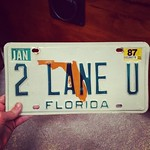 Incoming freshman Maia Schoenberg found her mom's old personalized license plate. A perfect dorm decoration! @maia_scho #tulane #tulane2018 #onlyattulane