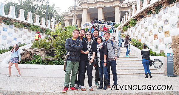 At the entrance of Park Guell