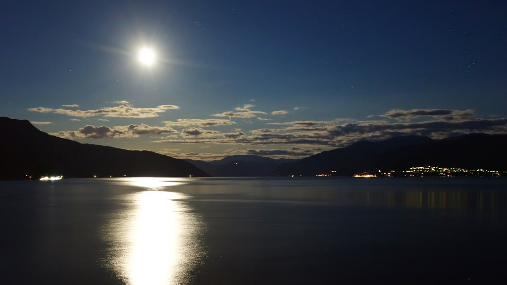 Sognefjord by moonlight