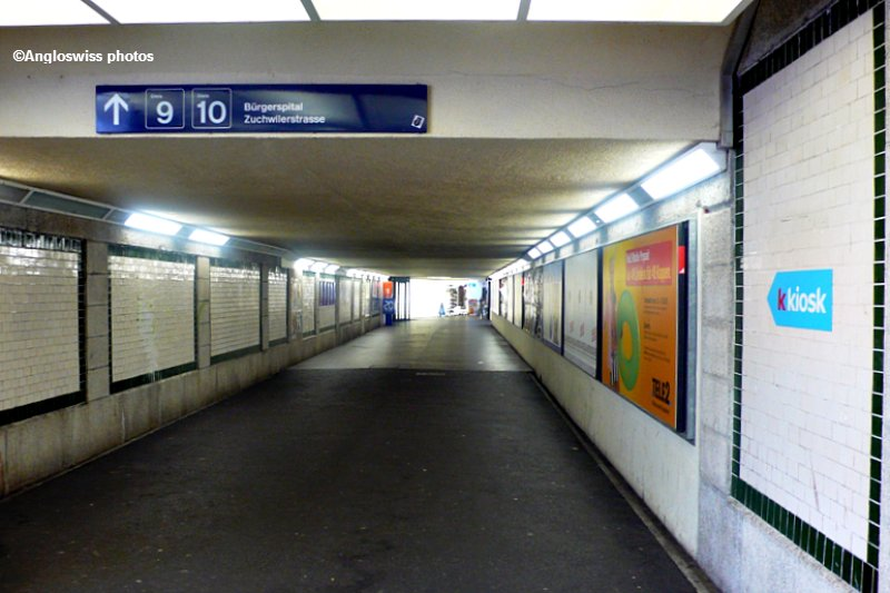 Foot tunnel in Solothurn main station