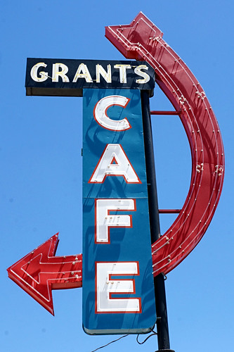 Grants Cafe sign - Route 66, Grants, New Mexico