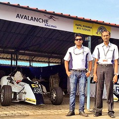 My Formula 4 Racing Teams Team Principle and Manager at my garage with my Car 43,  #racing #team #avalanche #principle #manager #car #jktyre #43