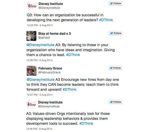 disneyinstitute-#DThink Chat Recap: Leadership Role and Responsibility