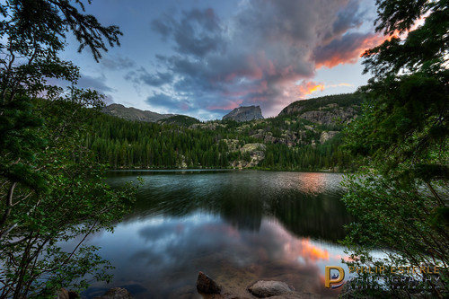 sunset mountains clouds landscapes colorado skies unitedstates lakes scenic rmnp skyscapes estespark forests hdr rockymountainnationalpark bearlake naturephotography waterscapes flattopmountain landscapephotography hallettpeak pentaxk3 fingolfinphoto philipesterle