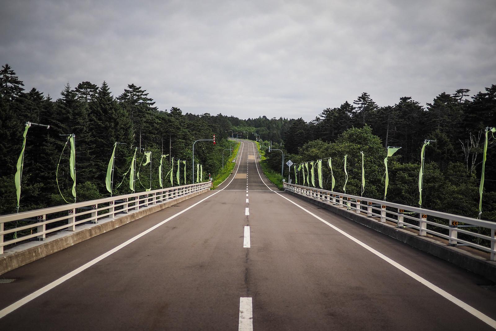 Equally quiet roads along the coast near Konbumori, Hokkaido, Japan