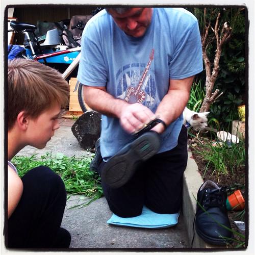 Shoeshine lesson