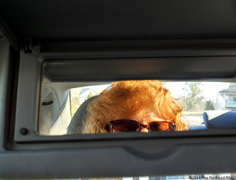 sherry redhead riter car mirror