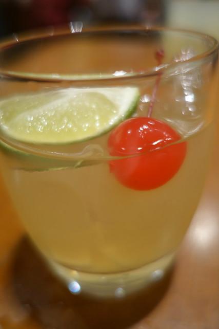 Maesiljoo Sour: Korean Plum Wine-based Cocktail. Olive Tree, InterContinental Singapore