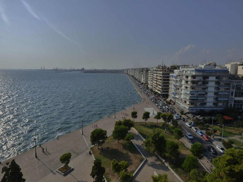 The Waterfront from the White Tower in Thessaloniki, Greece - August 2014