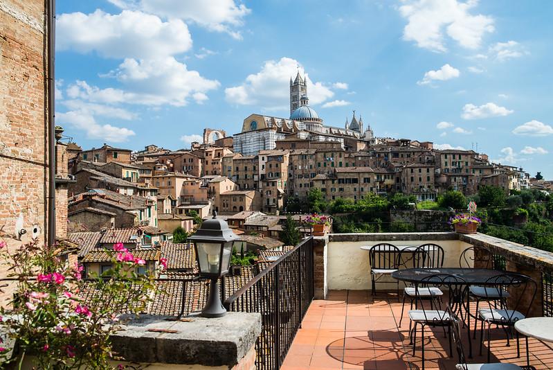 Terrazas en Siena