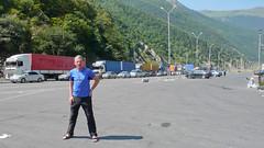 Przejście graniczne Rosja (Wierchnij Lars) - Gruzja (Kazbegi). Strona rosyjska.