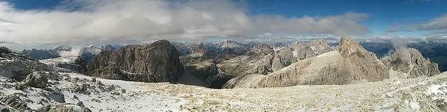 Gipfelblick Hochbrunner Schneid, Sextner Dolomiten