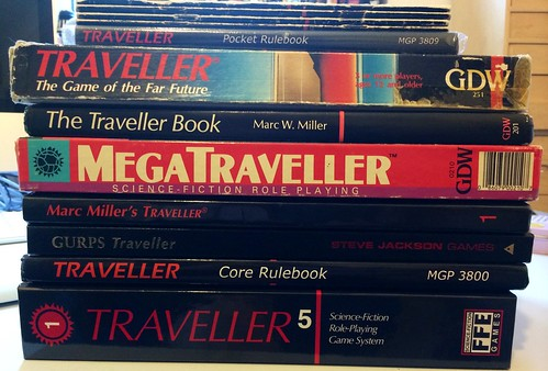 #RPGaDay Traveller Rules...