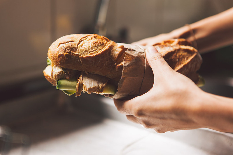 Sanduíche de Frango, Limão Siciliano e Abobrinha