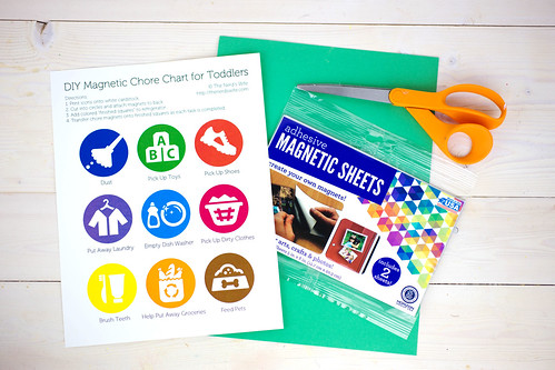 Toddler Chore Chart Supplies #SparklySavings #Shop