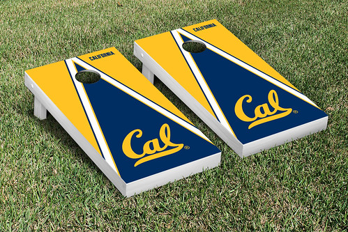 California Berkeley Golden Bears Cornhole Game Set Triangle Version