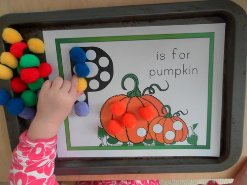 P is for Pumpkin Magnetic Tray (Photo from Rockabye Butterfly)