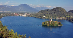 Die Regattastrecke in Bled